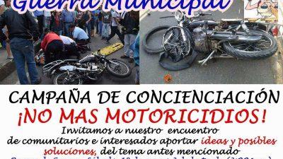En el Municipio de Guerra se unen para concientizar a los motoconchistas y evitar accidentes