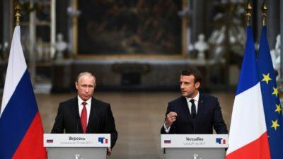 """Macron y Putin mantienen un diálogo """"franco"""" sobre Siria y Ucrania"""