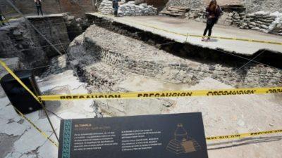 Descubren templo y cancha de ritual azteca en la capital mexicana