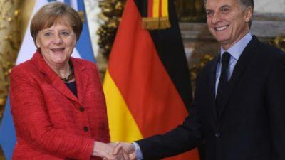 Merkel busca nuevos aliados para Europa y Argentina quiere serlo