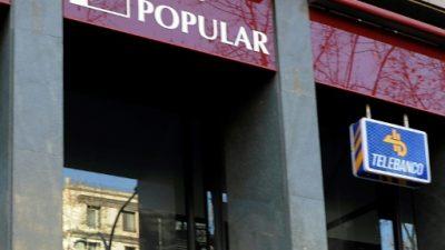 Banco Popular volvió a caer con fuerza en la Bolsa de Madrid
