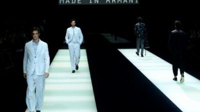 Armani en tonos crudos y un Fendi relajado en la pasarela masculina de Milán