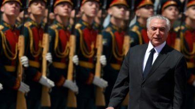 Temer en Rusia, con Brasil hecho un hervidero político