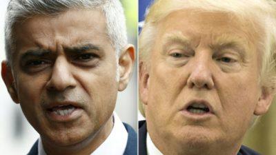 Trump vuelve a criticar en Twitter al alcalde de Londres