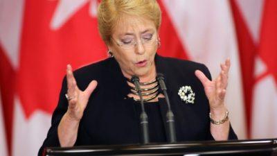 """Bachelet pide perdón al pueblo mapuche por los """"errores y horrores"""""""