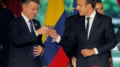 Macron reitera su apoyo al proceso de paz en Colombia