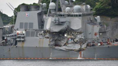 Identificados los cuerpos de los 7 marinos del buque colisionado en Japón (Marina de EEUU)