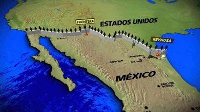 """Trump plantea la idea de un """"muro solar"""" en la frontera con México"""