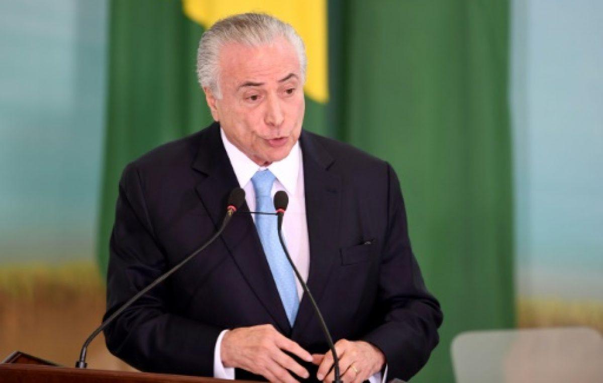 """Escándalo en Brasil: El presidente Temer acusado de ser """"jefe de organización criminal"""""""