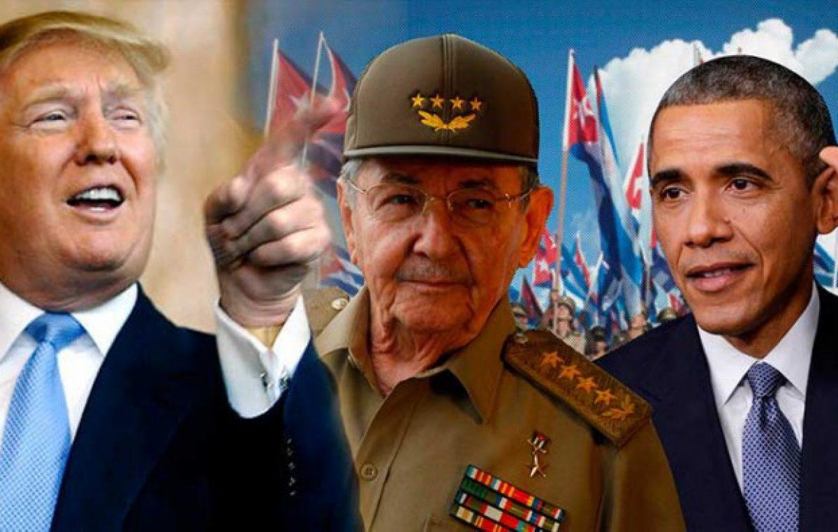 """Trump denuncia el carácter """"brutal"""" del régimen cubano"""