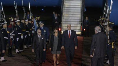 Vicepresidente de EEUU llega a Argentina en gira por Latinoamérica