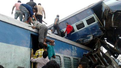 Veintitrés muertos y 64 heridos en accidente de tren en India