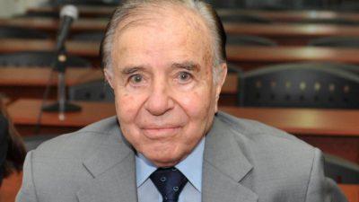 Justicia habilita candidatura de Menem a senador en Argentina