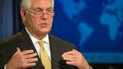 Estados Unidos no busca derrocar al régimen norcoreano, asegura Tillerson