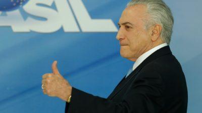 Temer, a salvo del juicio por corrupción, pretende impulsar los ajustes en Brasil