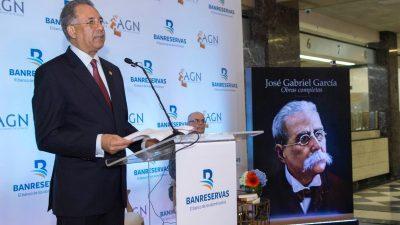 RD: Banreservas publica tomos V y VI de las Obras Completas de José Gabriel García