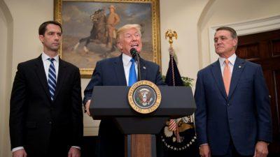 Trump apoya el proyecto para limitar el ingreso de inmigrantes con baja preparación