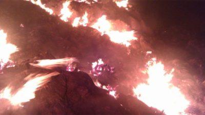 Reserva biológica en Bolivia sufre voraz e incontrolable incendio