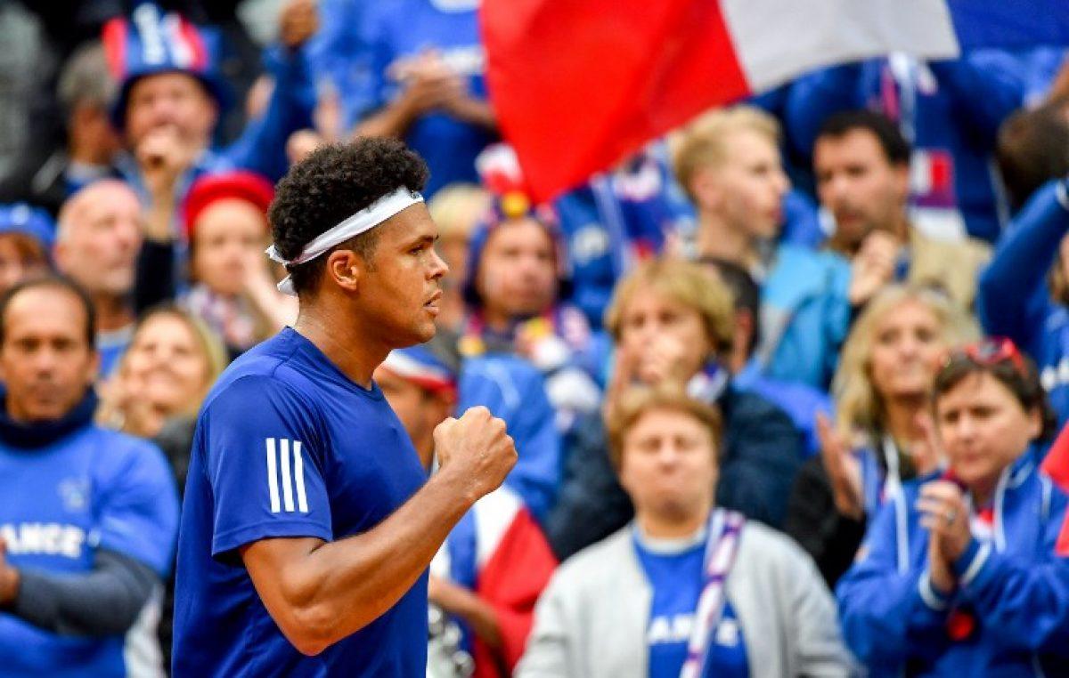 Tsonga permite a Francia empatar 1-1 ante Serbia en Copa Davis