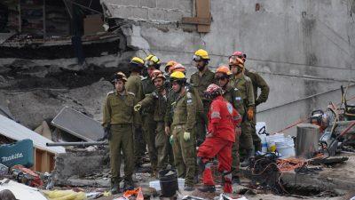 Se reanuda rescate en Ciudad de México tras sismo de 6,1 grados