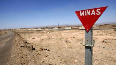 Chile retiró 80% de las minas instaladas en la frontera con Bolivia