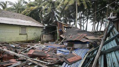 Casas dañadas y miles de evacuados por Irma en República Dominicana
